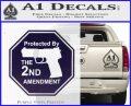 Protected By The 2nd Amendment Decal Sticker PurpleEmblem Logo 120x97