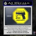 Protected By The 2nd Amendment Decal Sticker Yellow Laptop 120x120