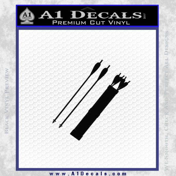 Quiver Arrows Archery Bow Hunting Decal Sticker Black Vinyl