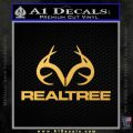 Realtree Antlers Decal Sticker Gold Vinyl 120x120