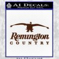 Remington Country Decal Sticker Duck BROWN Vinyl 120x120