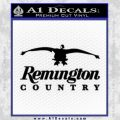 Remington Country Decal Sticker Duck Black Vinyl 120x120