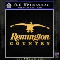 Remington Country Decal Sticker Duck Gold Vinyl 120x120