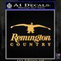 Remington Country Decal Sticker Duck Gold Vinyl 120x120