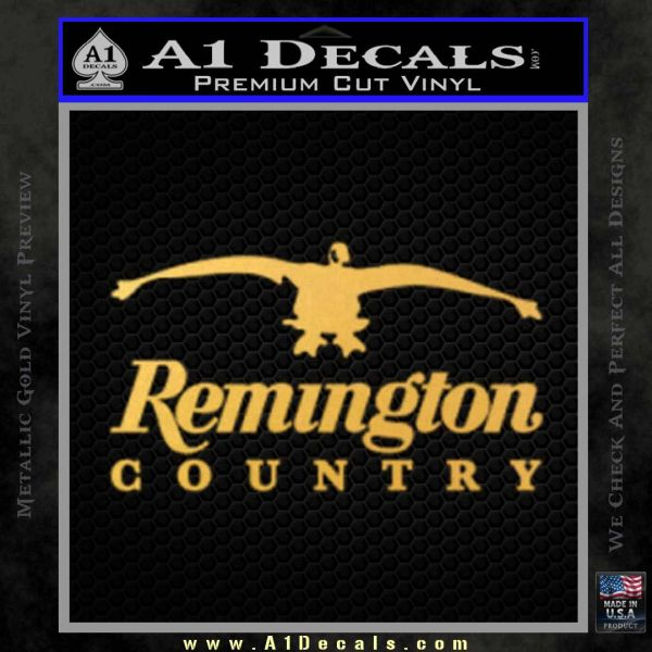 Remington Country Decal Sticker Duck Gold Vinyl