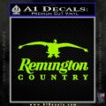 Remington Country Decal Sticker Duck Lime Green Vinyl 120x120