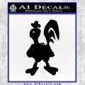 Robot Chicken Decal Sticker Black Vinyl 120x120