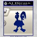 Robot Chicken Decal Sticker Blue Vinyl 120x120