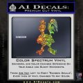 Robot Chicken Decal Sticker Glitter Sparkle 120x120