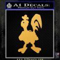 Robot Chicken Decal Sticker Gold Vinyl 120x120