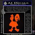 Robot Chicken Decal Sticker Orange Emblem 120x120