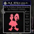 Robot Chicken Decal Sticker Pink Emblem 120x120