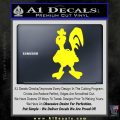Robot Chicken Decal Sticker Yellow Laptop 120x120