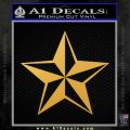 Rock Star Decal Sticker P5 Gold Vinyl 120x120