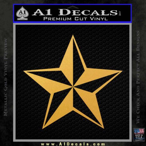 Rock Star Decal Sticker P5 Gold Vinyl