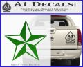 Rock Star Decal Sticker P5 Green Vinyl Logo 120x97
