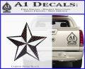 Rock Star P5 Decal Sticker Carbon FIber Black Vinyl 120x97
