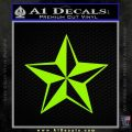 Rock Star P5 Decal Sticker Lime Green Vinyl 120x120