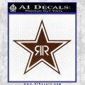 Rockstar Energy Drink D2 Decal Sticker BROWN Vinyl 120x120