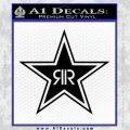 Rockstar Energy Drink D2 Decal Sticker Black Vinyl 120x120