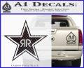 Rockstar Energy Drink D2 Decal Sticker Carbon FIber Black Vinyl 120x97