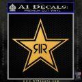 Rockstar Energy Drink D2 Decal Sticker Gold Vinyl 120x120