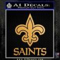 Saints D2 Decal Sticker Gold Metallic Vinyl Black 120x120