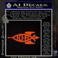Sci Fi Jesus Fish Decal Sticker Orange Emblem 120x120