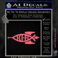 Sci Fi Jesus Fish Decal Sticker Pink Emblem 120x120