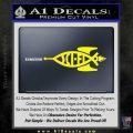 Sci Fi Jesus Fish Decal Sticker Yellow Laptop 120x120