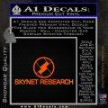 Skynet Decal Sticker Terminator Orange Emblem Black 120x120