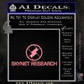 Skynet Decal Sticker Terminator Soft Pink Emblem Black 120x120