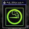 Smoking Allowed Toking 420 Decal Sticker Neon Green Vinyl Black 120x120