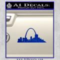St Louis Arch Decal Sticker Blue Vinyl 120x120