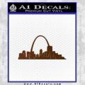 St Louis Arch Decal Sticker Brown Vinyl 120x120