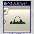 St Louis Arch Decal Sticker Dark Green Vinyl 120x120