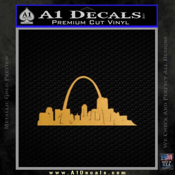 St Louis Arch Decal Sticker Gold Metallic Vinyl