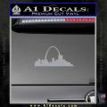 St Louis Arch Decal Sticker Grey Vinyl 120x120
