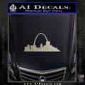 St Louis Arch Decal Sticker Metallic Silver Vinyl 120x120