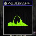 St Louis Arch Decal Sticker Neon Green Vinyl 120x120
