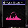 St Louis Arch Decal Sticker Neon Pink Vinyl 120x120