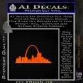 St Louis Arch Decal Sticker Orange Emblem 120x120