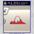 St Louis Arch Decal Sticker Red Vinyl 120x120