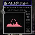 St Louis Arch Decal Sticker Soft Pink Emblem 120x120