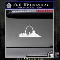 St Louis Arch Decal Sticker White Vinyl 120x120