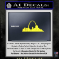 St Louis Arch Decal Sticker Yellow Vinyl 120x120