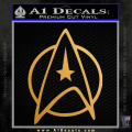 Star Trek Circle Command Decal Sticker Gold Metallic Vinyl 120x120