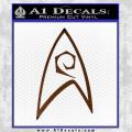 Star Trek Decal Sticker – Engineering Brown Vinyl 120x120