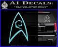 Star Trek Decal Sticker – Engineering Light Blue Vinyl 120x97