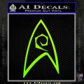 Star Trek Decal Sticker – Engineering Neon Green Vinyl 120x120